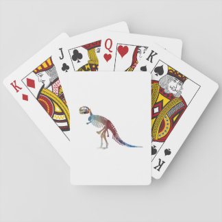 Tyrannosaurus rex skeleton art playing cards