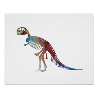 Tyrannosaurus rex skeleton art poster