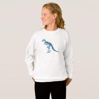 Tyrannosaurus rex skeleton art sweatshirt