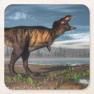 Tyrannosaurus rex square paper coaster