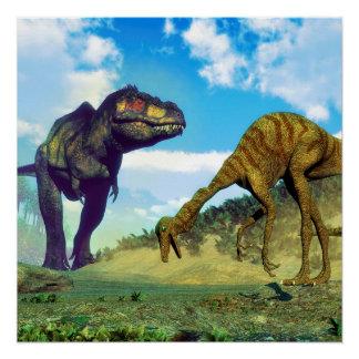 Tyrannosaurus rex surprising gallimimus dinosaurs