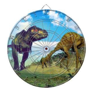 Tyrannosaurus rex surprising gallimimus dinosaurs dartboard