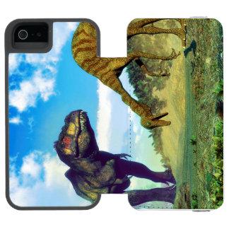 Tyrannosaurus rex surprising gallimimus dinosaurs incipio watson™ iPhone 5 wallet case