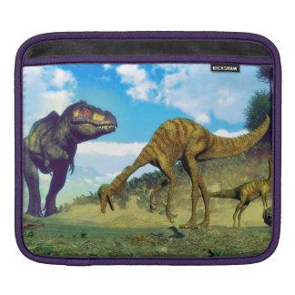 Tyrannosaurus rex surprising gallimimus dinosaurs iPad sleeve