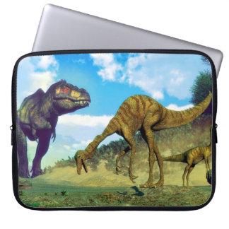 Tyrannosaurus rex surprising gallimimus dinosaurs laptop sleeve
