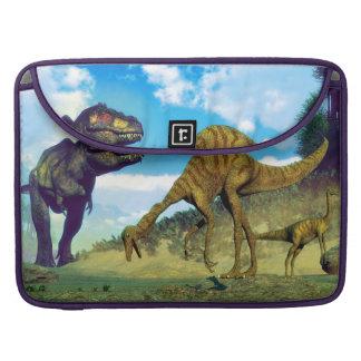 Tyrannosaurus rex surprising gallimimus dinosaurs sleeve for MacBooks
