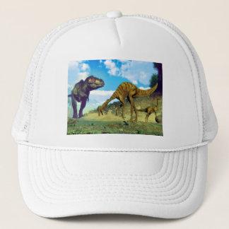 Tyrannosaurus rex surprising gallimimus dinosaurs trucker hat