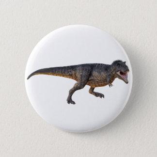 Tyrannosaurus-Rex with Yellow Coloring 6 Cm Round Badge