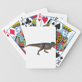Tyrannosaurus-Rex with Yellow Coloring Bicycle Playing Cards