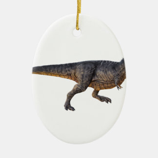Tyrannosaurus-Rex with Yellow Coloring Ceramic Ornament