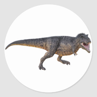 Tyrannosaurus-Rex with Yellow Coloring Classic Round Sticker