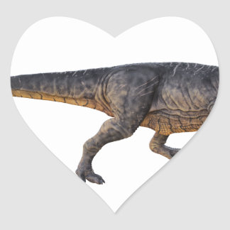 Tyrannosaurus-Rex with Yellow Coloring Heart Sticker