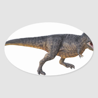 Tyrannosaurus-Rex with Yellow Coloring Oval Sticker