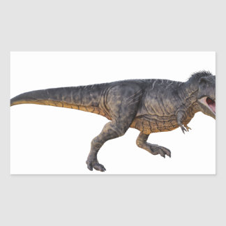 Tyrannosaurus-Rex with Yellow Coloring Rectangular Sticker