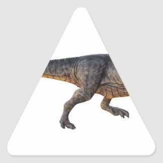 Tyrannosaurus-Rex with Yellow Coloring Triangle Sticker
