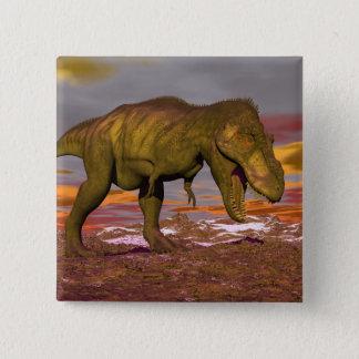 Tyrannosaurus roaring - 3D render 15 Cm Square Badge