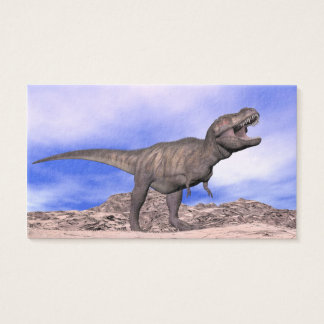 Tyrannosaurus roaring - 3D render Business Card