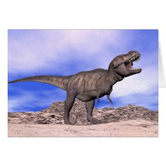 Tyrannosaurus roaring - 3D render Card