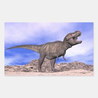 Tyrannosaurus roaring - 3D render Rectangular Sticker