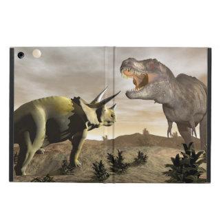 Tyrannosaurus roaring at triceratops - 3D render iPad Air Case