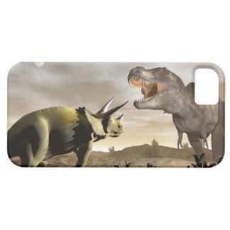 Tyrannosaurus roaring at triceratops - 3D render iPhone 5 Case