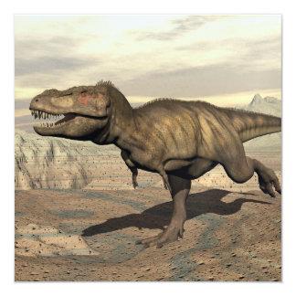 Tyrannosaurus running - 3D render Card