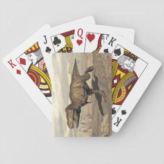 Tyrannosaurus running - 3D render Playing Cards