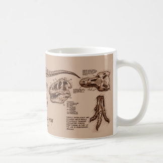 Tyrannosaurus Skeleton Mug- Tan Coffee Mug
