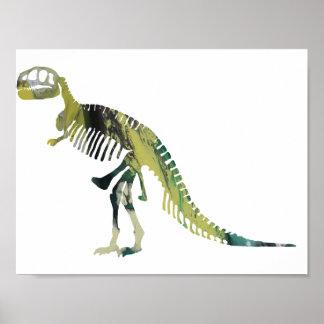 Tyrannosaurus skeleton poster