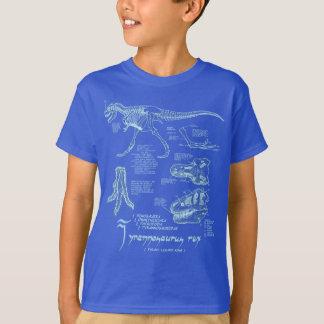 Tyrannosaurus Skeleton Shirt- Dark Royal T-Shirt