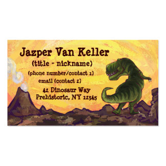 Tyrannosaurus Stationery Pack Of Standard Business Cards