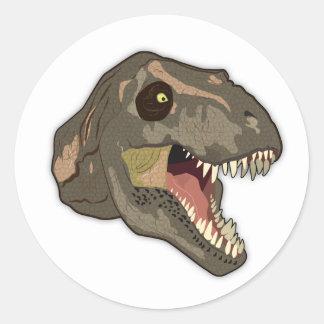 Tyrannosaurus STRIKES Classic Round Sticker