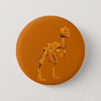 Tyrannosaurus tricktreatus 6 cm round badge