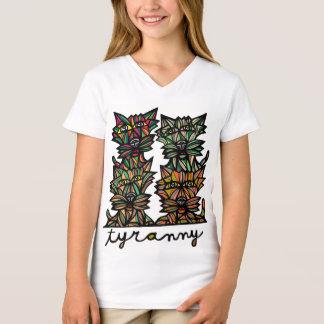 """""""Tyranny"""" Girls' V-Neck T-Shirt"""