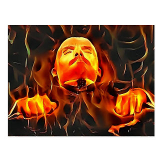 Tyrant Series #4: Flaming Lenin on Display Postcard