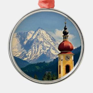 TYROL, AUSTRIA Silver-Colored ROUND DECORATION