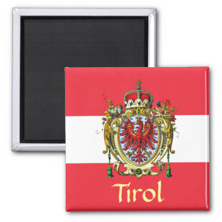 Tyrol Coat of Arms Square Magnet