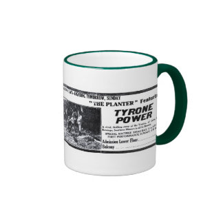 Tyrone Power 1917 vintage movie ad mug