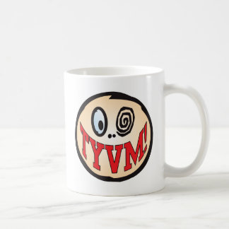 TYVM Text Head Mug