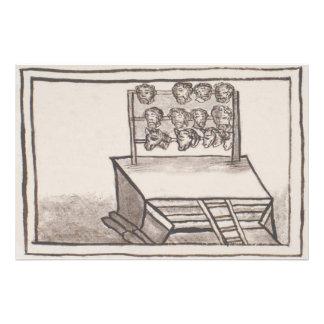 Tzompantli Skull Rack Florentine Codex Art Photo
