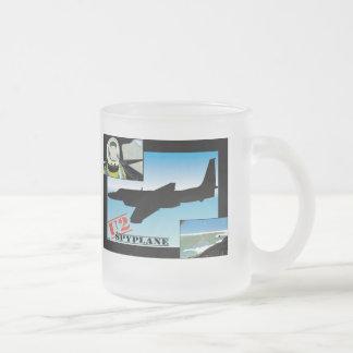 U2 Spy Plane 10 Oz Frosted Glass Coffee Mug