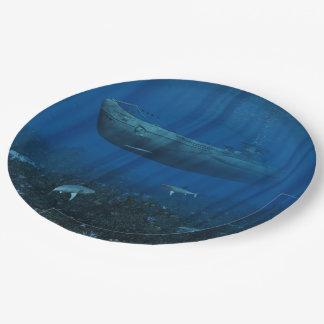 U99 Submarine Paper Plate