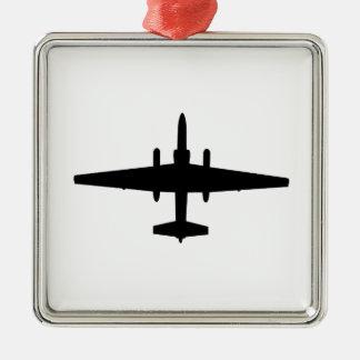 U-2 Dragon Lady Silver-Colored Square Decoration