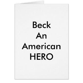 !!! U Create Beck An American HERO Card