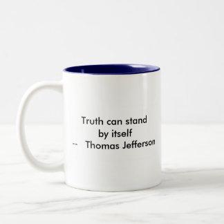 !!! U Create Truth  can stand by itself Two-Tone Coffee Mug