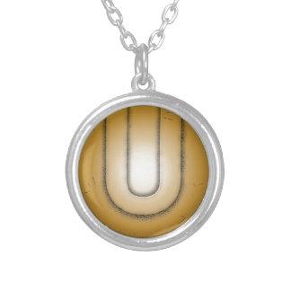 U initial letter custom jewelry