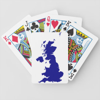 U.K. and Northern Ireland Silhouette Bicycle Playing Cards