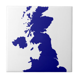 U.K. and Northern Ireland Silhouette Ceramic Tile