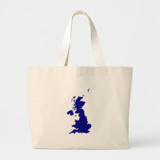 U.K. and Northern Ireland Silhouette Large Tote Bag