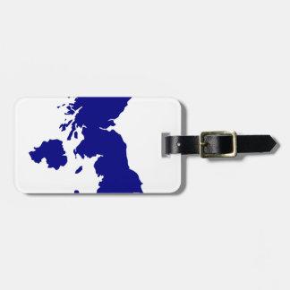 U.K. and Northern Ireland Silhouette Luggage Tag